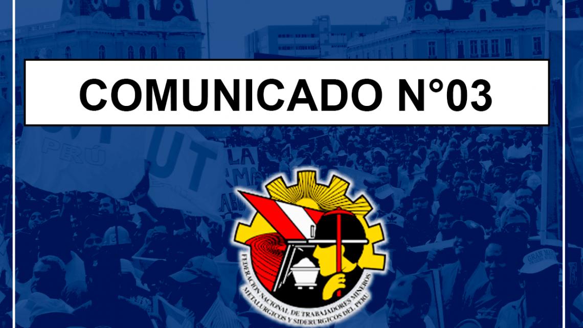COMUNICADO N°03 -2019