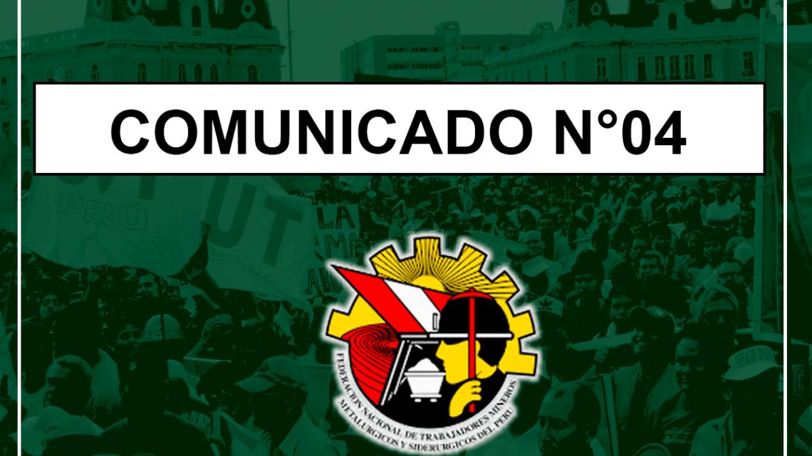 COMUNICADO N°04 – 2019