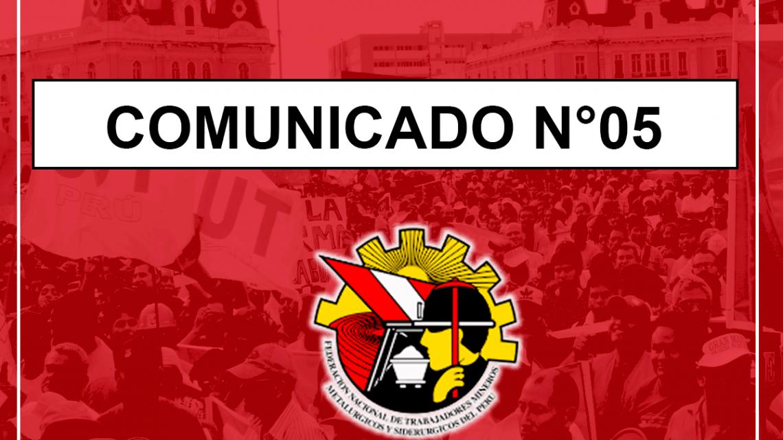COMUNICADO N°05 -2019