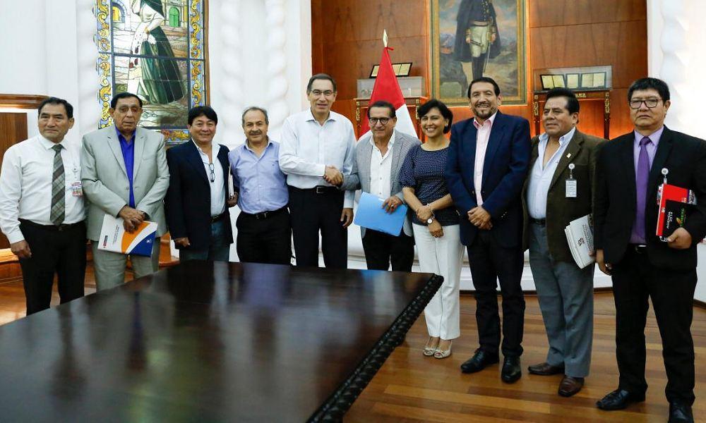 ¿Reunión entre el presidente Martín Vizcarra y representantes de sindicatos del Perú no llega a fines?