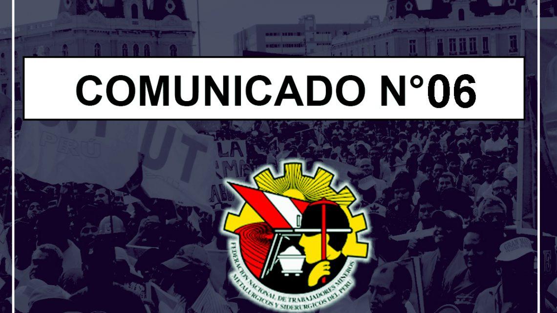 COMUNICADO N°06 – 2019