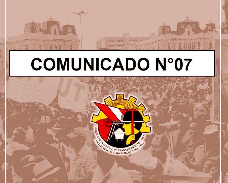 COMUNICADO Nº07 – 2019
