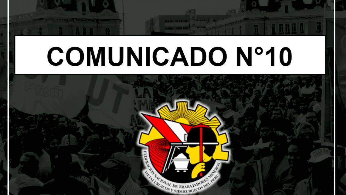 COMUNICADO Nº10 – 2019
